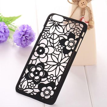 Flower Designed See-Through Cellular Case for iPhone 6 Plus