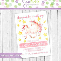Unicorn party Invitation, Unicorn Invitation, Unicorn Birthday Invitation, Unicorn Party, Unicorn Birthday party Printable invitation