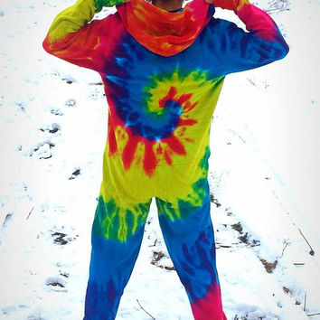 rainbow-tie-dye-batik-jumpsuit-psychedelic-clothing-goa-hoodie-Onesuit-overall-festival-hippie-monotobi-retro-modern-vintage-colored
