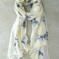 Wild Horses Scarf [3933] - $16.00 : Vintage Inspired Clothing & Affordable Dresses, deloom | Modern. Vintage. Crafted.