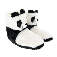 Plush Panda Slipper Boots
