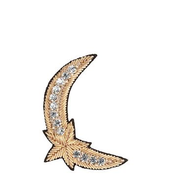 Crystal-embellished moon and star brooch | HUDA AL NUAIMI | MATCHESFASHION.COM US
