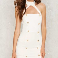BOSSA Halter of Fame Bodycon Dress