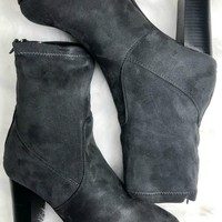 SZ 6 Chimney Rock Charcoal Suede Zinc Bootie