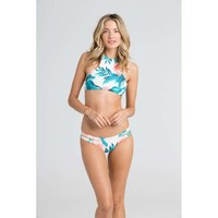 TROPICAL DAZE HIGH NECK BIKINI TOP