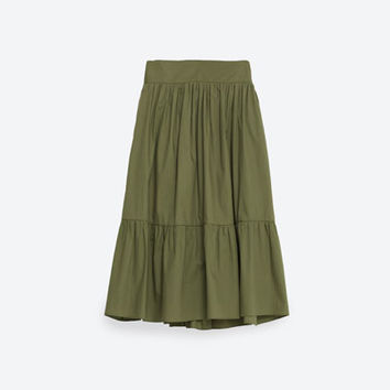 POPLIN SKIRT - View All-SKIRTS-WOMAN | ZARA United States