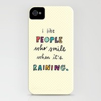 when it's raining iPhone Case by Riga Sutakul | Society6