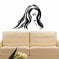 Wall Decal Vinyl Sticker Beauty Girl Hair Salon Spa Decor Sb483