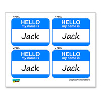 Jack Hello My Name Is - Sheet of 4 Stickers