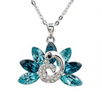 Austrian Crystal Peacock Necklace
