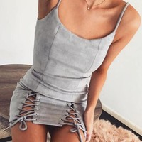 Hot Sale Women's Fashion Sexy Spaghetti Strap One Piece Dress [11856498127]