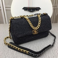 Chane black leather Womens silver and gold Double C on Chain cross body Chane vintage Chan jumbo Tote Handbag Shoulder Shopping Messenger Bags Wallet Purses 2020 New Fashion Bags