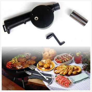 ONETOW Hand Fan Starter Blower Barbecue Grill Fire Cranked Outdoor Picnic Camping BBQ Barbecue Tool Fan/Blower Barbecue Fire