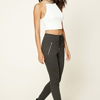 Zippered-Front Sweatpants