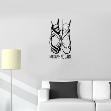 Wall Decal Ballet Dancer Dancing Legs Motivation Sports Vinyl Sticker Unique Gift (ed817)
