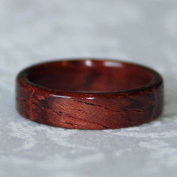 Bubinga Wooden Ring or Wedding Band or Wood of Your Choice