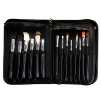 Ovonni 29pcs Professional High Quality Goat Hair Makeup Brush Set with Case