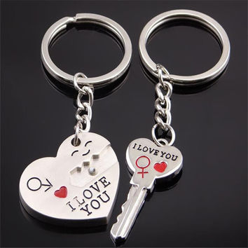 2016 Hot Sale Limited Baby Shower 1pair Key To My Heart Keychain Gifts For Guests Favors And Souvenirs Supplies Obsequios Boda