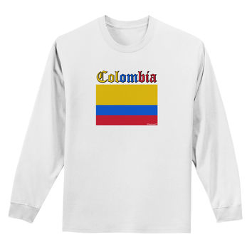 Colombia Flag Adult Long Sleeve Shirt