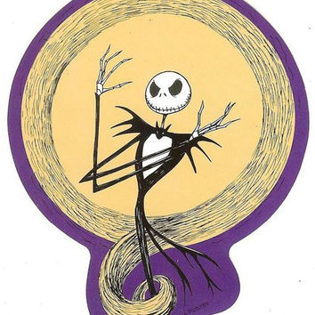 Nightmare Before Christmas Vinyl Sticker Jack Moon