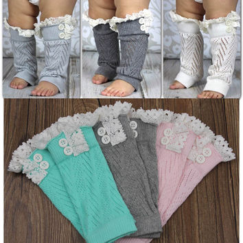 Toddlers Baby Kids Knitted lace Ruffles Leg Warmer,Leggings Baby Clothes/Infant Wear