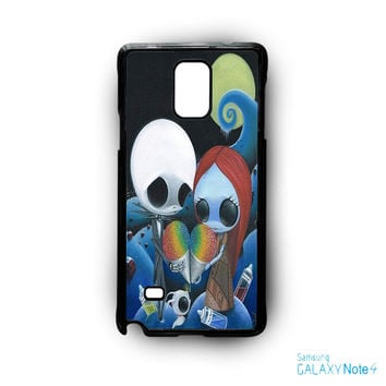 jack and sally nightmare before christmas rainbow ice cream for Samsung Galaxy Note 2/Note 3/Note 4/Note 5/Note Edge phone case