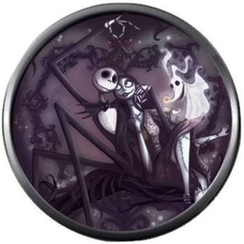 Zero Jack And Sally Halloween Town Nightmare Before Christmas Jack Skellington 18MM - 20MM Charm for Snap Jewelry New Item