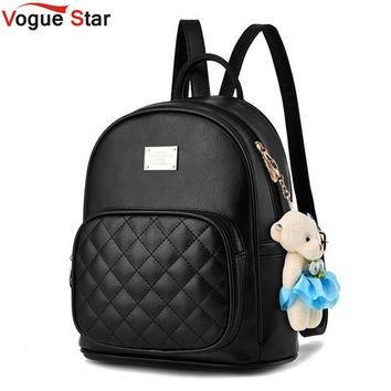 Vogue Star 2017 Fashion Women Backpack For Girls Backpacks Black Backpacks Female Fashion Girls Bags Ladies Black Backpack LA264
