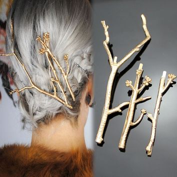 3Pcs/Set CHIC Runway Tree Branch Hairpins Fascinator Bobby Pins Hair Accessories 2H3011
