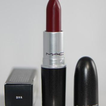 MAC 'DIVA' Matte (Intense Reddish-Burgundy) Lipstick NIB  M2LP 3g/0.1 US OZ