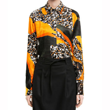 Acne Studios Leia Print Dark Terrazzo Long Sleeved Shirt