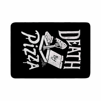 "Tatak Waskitho ""Death By Pizza"" Food Black Memory Foam Bath Mat"
