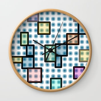 zappwaits glass Wall Clock by netzauge