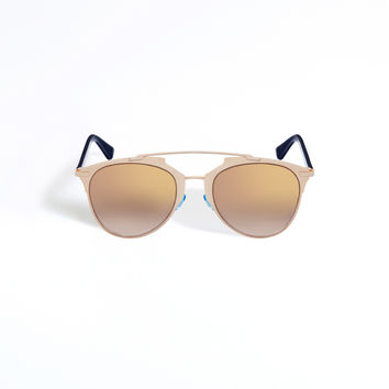 """DIOR REFLECTED"" SUNGLASSES GOLD AND BLEU MARINE"
