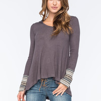 OTHERS FOLLOW Medley Knit Womens Top | Raglans & L/S Tees