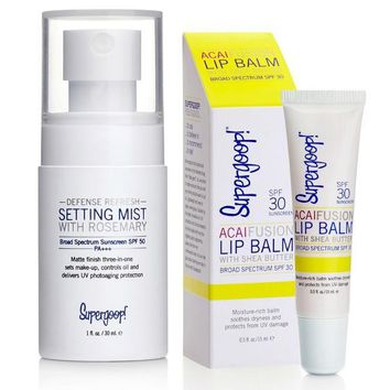 Supergoop! Setting Mist and Lip Balm
