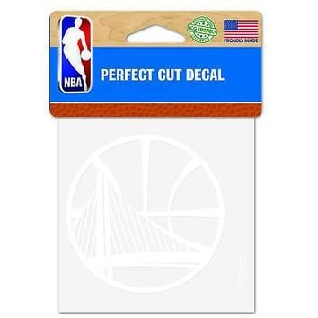 """Licensed Golden State Warriors Official NBA 4"""" x Automotive Car Decal 4x4 by Wincraft KO_19_1"""