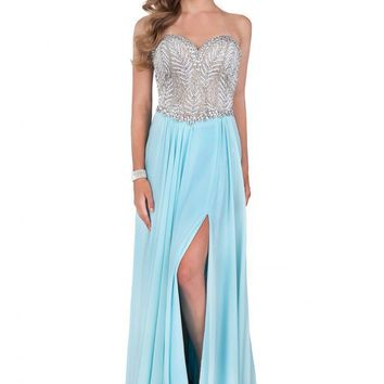 Terani Couture - 1611P0207A Fully Jeweled Bodice Evening Dress
