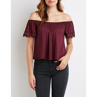 Crochet-Trim Off-The-Shoulder Top | Charlotte Russe