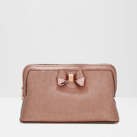 Scallop edge large wash bag - Rose Gold | Gifts for Her | Ted Baker
