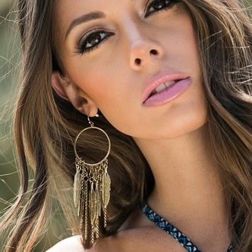 Feather Fringe Hoops