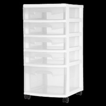 Sterilite® 5-Drawer Storage Cart