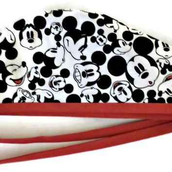 Men's Unlined Surgical Scrub Hat Cap in Mickey Mouse
