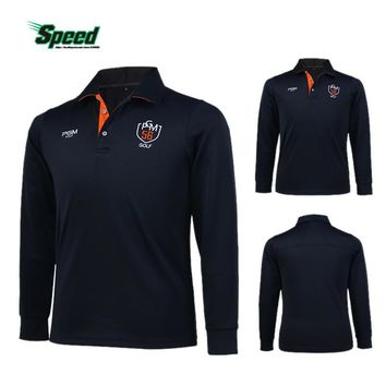 New Arrival PGM Brand Mens Outdoor Fit Polomens Golf Polo Shirts Quick Dry Long Sleeve