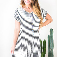 Rocksteady Stripe Babydoll Dress