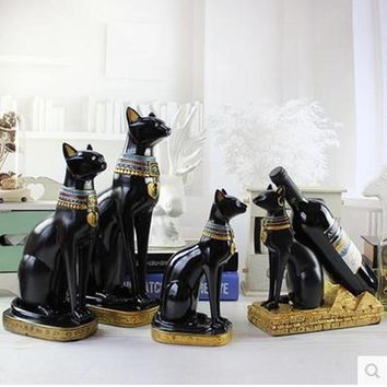 Egyptian Cat God Bastet Creative Statues And Figurines