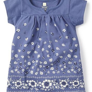 Infant Girl's Tea Collection 'Delfina' Split Neck Shift Dress,