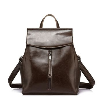 Realer Leather Convertible Backpacks Purse