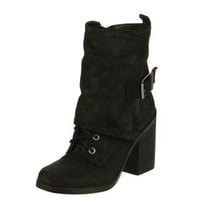 Fergie Women's 'Major' Short Leather Boots FINAL SALE | Overstock.com