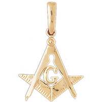 14K Gold G Masonic Masons Charm #4831